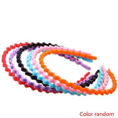 8 Mixed Color Plastic Wave Hair Band Headband 8mm with Teeth Hair Accessories