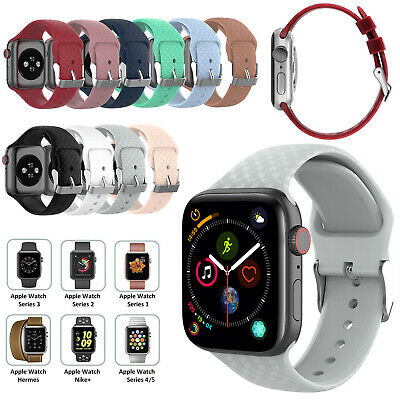 For Apple Watch iWatch Series 5 4 3 38/40/42/44mm Soft Silicone Sport Strap Band