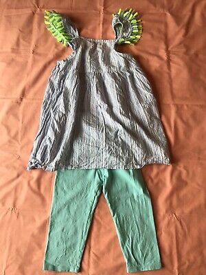 Girl's SweetPineapple tunic+Zara short legging set size 10Y excellent conditions