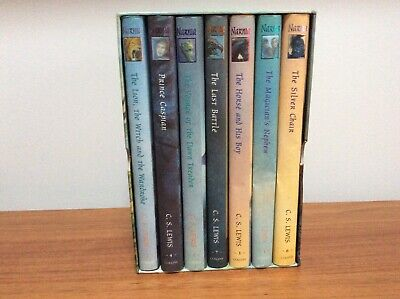C.S LEWIS The Complete Chronicles of Narnia Hardback Box Set-Ted Smart RRP£90.00