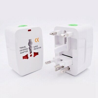 World Universal All in one Travel AC Power Adapter-Converter to US EU AU UK Plug