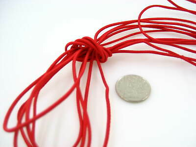 25ms of 2mm red Round Elastic cord sewing accessories 3mm stretch bungee cord