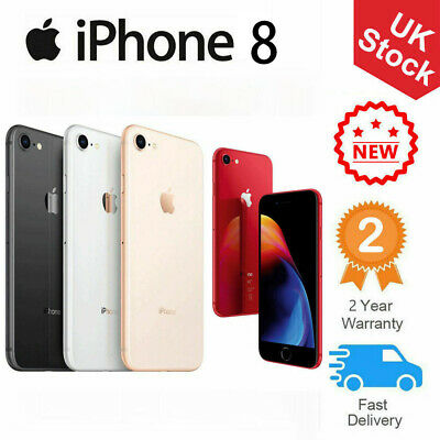 New Apple iPhone 8 64GB Black Silver Gold Factory Unlocked Smartphone UK Stock