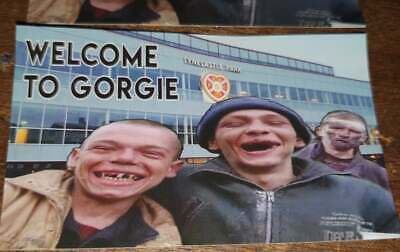 Hibernian, Celtic, Welcome to Gorgie Anti Hearts pack of 25 10x6cm stickers.