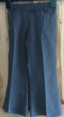 Marks & Spencer School Trousers Age 4 Years  Grey Elasticated Waist