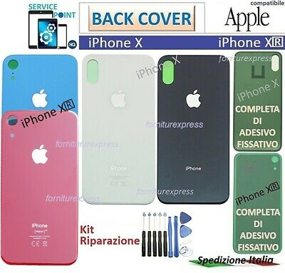 BACK COVER SCOCCA POSTERIORE PER APPLE IPHONE X TEN 10 BIANCO