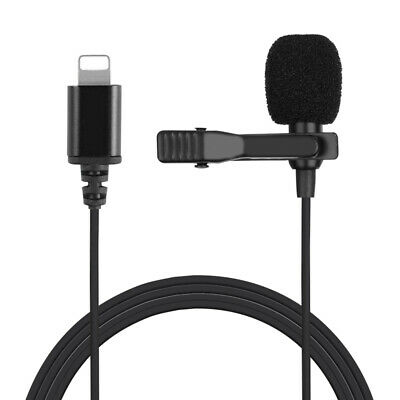 Professional Grade Lavalier Lapel Microphone with Clip for iPhone/RecordingB2Z8