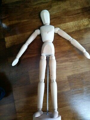 "Artist's Wooden Manikin Mannequin Poseable Lay Figure Drawing Model 12"" / 30cm"