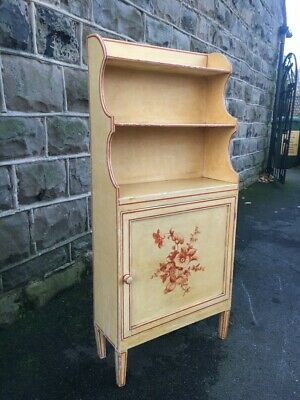Antique Painted Waterfall Bookcase