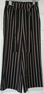 Ladies Striped Wide Leg Trousers From New Look Size 8 BNWOT