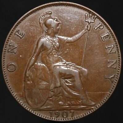 1907 | Edward VII One Penny | Bronze | Coins | KM Coins