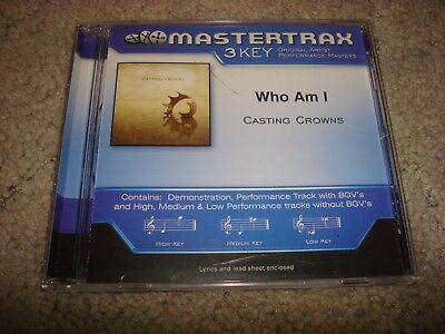 Mastertrax 3 Key Who Am I Casting Crowns CD