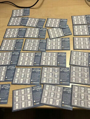 20 Greggs Coffee Collector Cards (Stamped) Latte CHEAPEST PRICE 1ST CLASS POST
