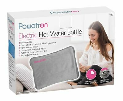 Rechargeable Electric Hot Water Bottle Soft Warm Touch Cover Masssaging Pad UK