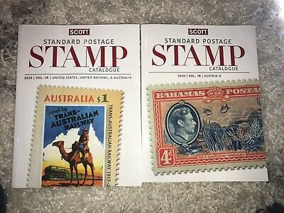 Scott Standard Stamp Postage Catalog 2020 Volume  1A And 1B Set