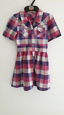 Marks & Spencer, M&S Girls Dress *With Belt* Age 6, Pink Purple White Check
