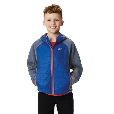 Regatta Excelsis Kids Boys Girls Warm Insulated Hooded Fleece Jacket Blue