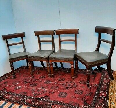 X4 Victorian Solid Mahogany Dining Chairs