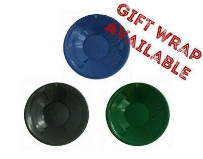 Gold Pan 8 Inch - Black, Blue or Green - Double Riffle Plastic High Quality GIFT