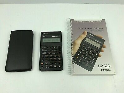 HP 32S Scientific Calculator with Instruction Manual and Protective Case - Works
