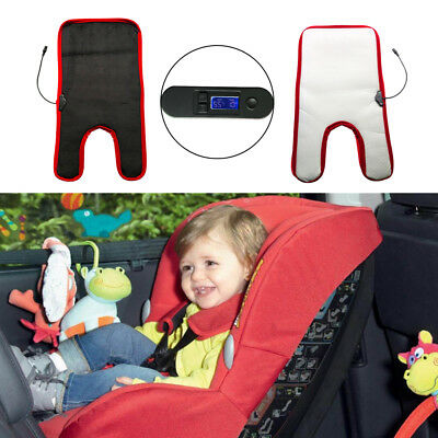 Car Heated Seat Cushion Pad Cover Winter For Baby Temperature Adjustable Timing