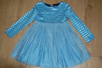 Mini Boden Girls Sparkly Spot Party Dress Age 5-6 years