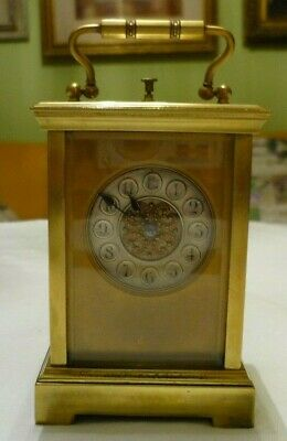 Antique  Couaillet  French Repeater Carriage Clock Around Late 19Th C