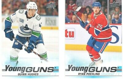 2019-20 Ud Upper Deck Series 1 Young Guns U Pick Free Combined Shipping