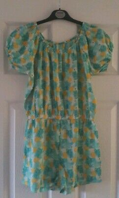 Girls Green & Yellow Pineapple Playsuit From Pep & Co Aged 10-11 Years