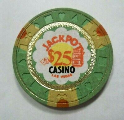 Jackpot Casino 25 Dollar Las Vegas Nv Poker Chip Obsolete Nevada Genuine