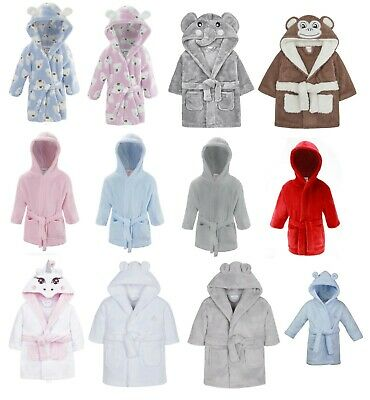 Baby Toddlers Boy Girl Dressing Gown Robe Novelty Gift Soft Warm Fleece Plush