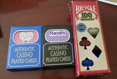 Pleasure Pit Harrah's Reno Casino Authentic Playing Cards Bicycle Poker Chips U2