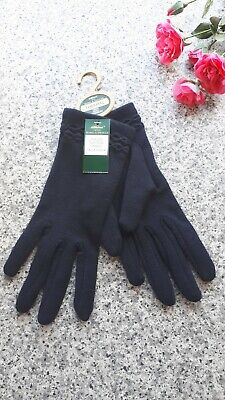 Vintage Unused St Michael Navy Thermal Gloves Size 7