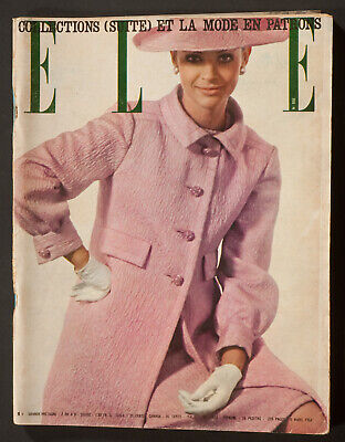 'Elle' French Vintage Magazine Spring Collection Issue 6 March 1964