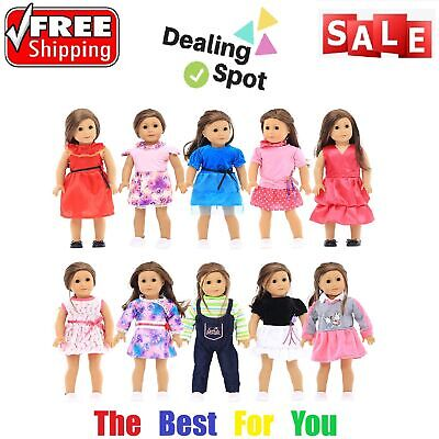 10 Sets 18 In Doll Clothes For Our Generation My American Girl&Life Perfect Gift