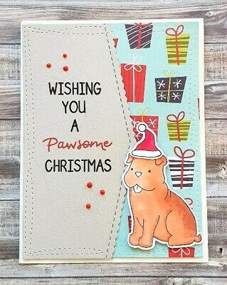 Handmade Christmas Card: Pawsome Christmas For Dog Lover Canine Friends Happy