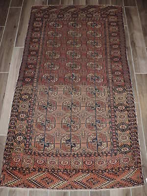 4x6ft. Handknotted Antique Russian Bokharra Wool Rug