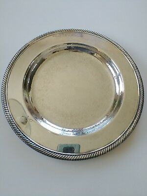 "W.M Rogers silver plate tray vintage 10 1/4"" wide antique vintage"
