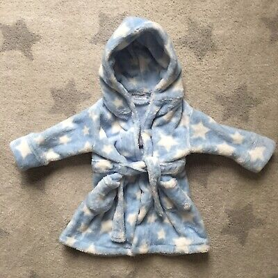 Baby Boys Traditional Dressing Gown Size 6-12 Months