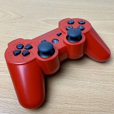 Official Red Sony PS3 Playstation 3 Dual Shock 3 Six Axis Wireless Controller