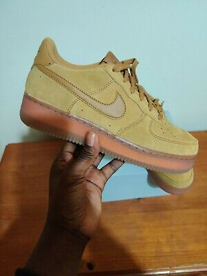 Nike Air Force 1 LV8 3 Wheat Gum Light Brown Kids Boys Girls Trainers UK5.5 US6Y