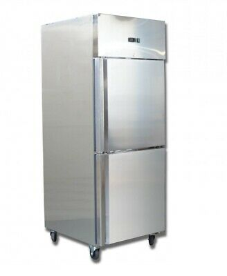 Refurbished Commercial Chilled Cool Upright Stainless Steel Spilt Door Freezer