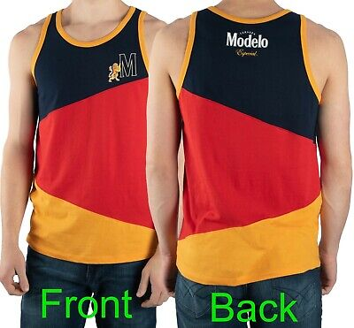 Modelo Tank Top Muscle Shirt Cerveza Especial Beer Color-Blocked Mens Size M-3XL