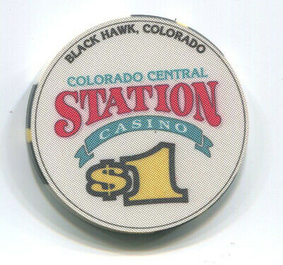 Colorado Central Station Black Hawk $1 Obsolete Casino Chip
