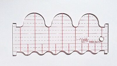 Quilting Ruler Template  Wave & Scallop  WSC-3x7-3  (3mm)