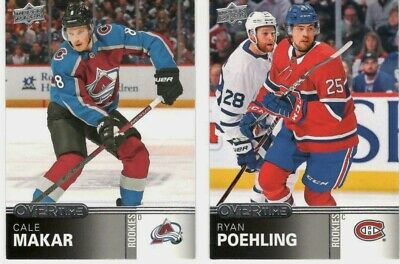 2019-20 Ud Upper Deck Overtime U Pick Free Combined Shipping