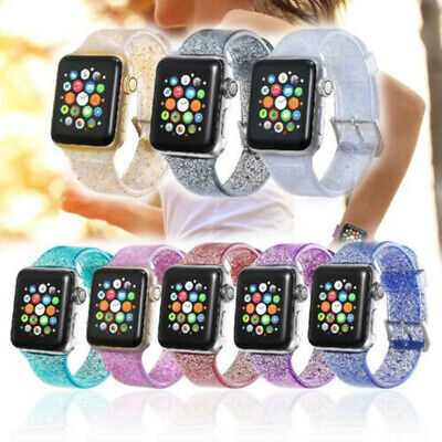 Correa Banda Silicona Bling Glitter PARA Apple Watch iWatch Series 1/2/3/4 Reloj