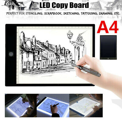 A4 LED Drawing Board Light Box Tracing USB Art Design Pad Copy Lightbox AU STOCK
