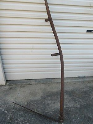 Antique Wood & Metal Farm Sheffield Large Scythe