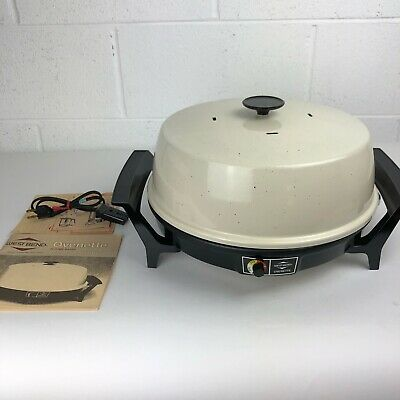 Vintage West Bend Electric Ovenette Skillet Dome Baker Large NEW NOS Rare